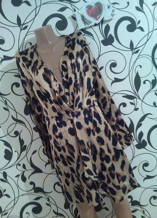Обольстительное и неповторимое крутое стильное платье в принт лео на р. м/л ...❤️
