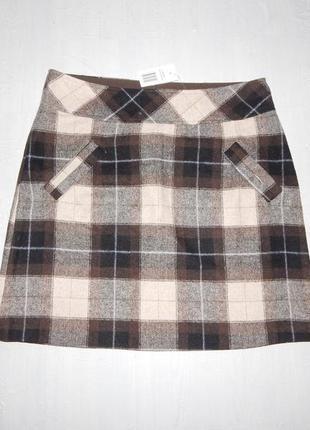 50% шерсть! теплая новая юбка миди marcollection