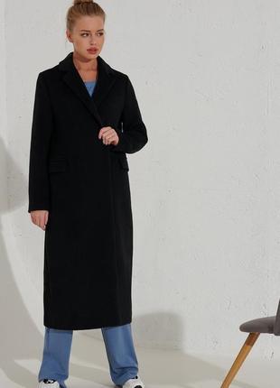 Обалденное, черное пальто ( италия)🔥