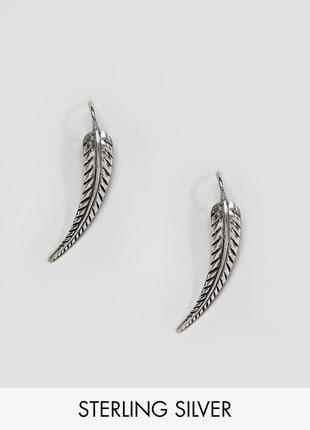 1+1=3 до 30/12 серебрянные серьги клаймберы в форме листика kingsley ryanиз каталога asos