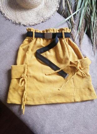 Вельветова юбка