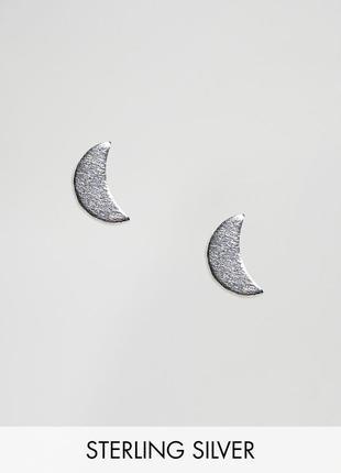 1+1=3 до 30/12 серебряные серьги-гвоздики kingsley ryan из каталога asos