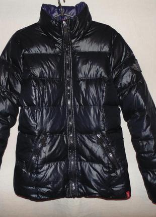 Куртка пуховик натуральный пух - перо esprit оригинал размер l - m