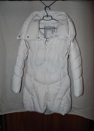 Пальто пуховик натуральный пух guess оригинал по сути новое размер м