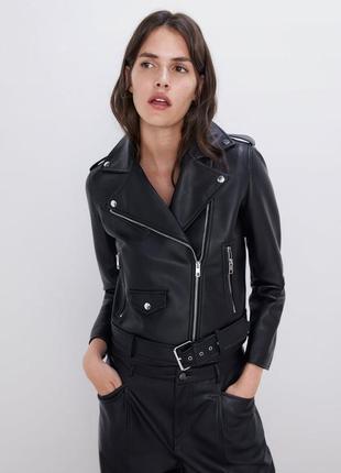 Новая байкерская куртка с имитацией кожи