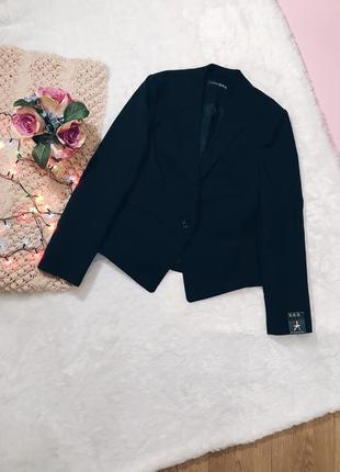 Черный плотный классический жакет(пиджак) хлопок