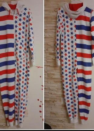 "Фирменная стильная пижама,слип,кигуруми,комбинезон""американский флаг"""