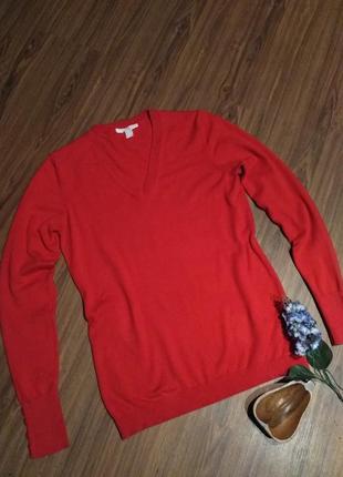Красный полувер размер s бренд esprit