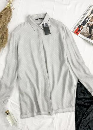 Нежная блуза в мелкий горох с небольшими разрезами bl 1949160  new look