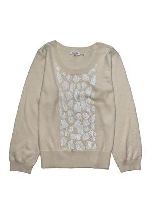 Джемпер шерстяной в кремовом цвете от calvin klein xl
