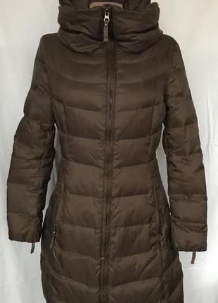Куртка коричневая 80% пух benetton