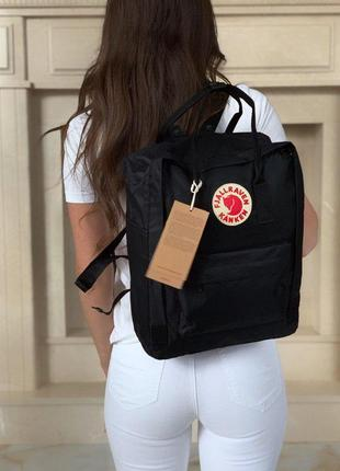 Полностью черный рюкзак fjallraven kanken classic 😍