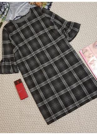 Демисезонное трикотажное платье george (клетка)