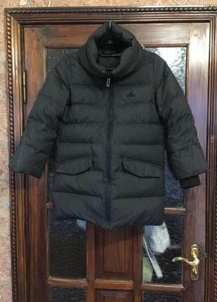 Натуральный пуховик курточка фирменная оригинал adidas