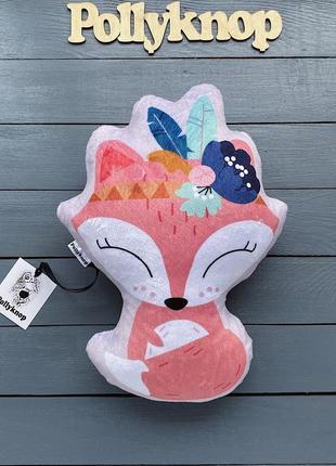 Подушка,игрушка плюшевая лисичка.