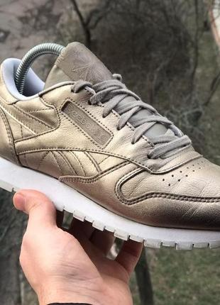 Кроссовки reebok classic leather melted metal
