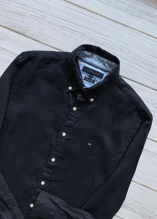 Льняная рубашка tommy hilfiger premium linen