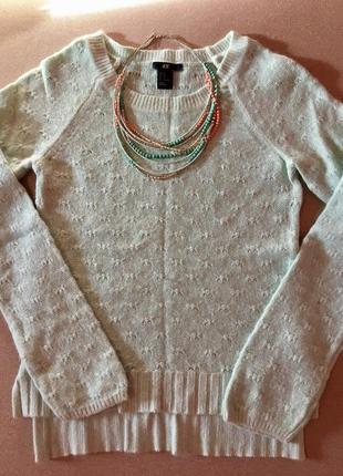 Маленький свитер h&m ангора! бижутерия в подарок 🎁