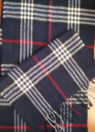 Шотландский шарф клетка чистая шерсть германия