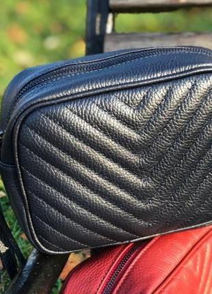 Кожаная сумка с кисточкой кроссбоди италия