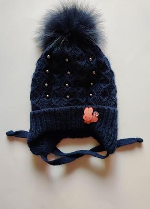 Зимняя шерстяная шапка, шапочка timosha
