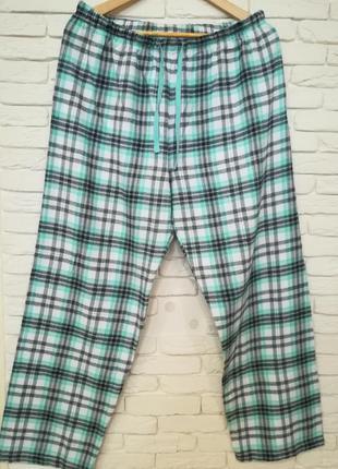 Комфортные пижамные штаны большого размера/фланель/skin to skin/поб 68