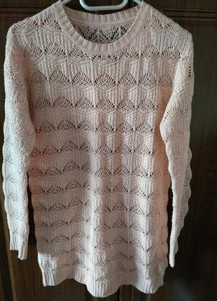 Ажурный свитер, р.48