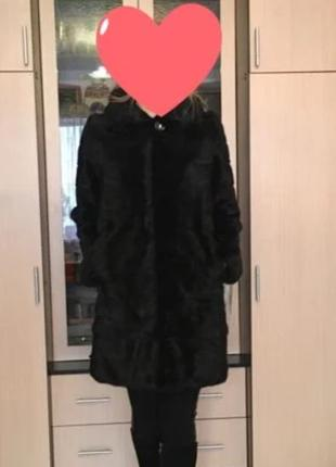 Норковая шуба black gama 42-44!