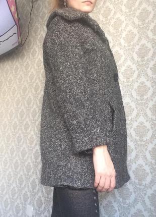 Стильное зимнее пальто шерсть xs
