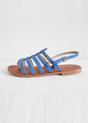 Брендовые кожаные босоножки сандалии на плоской подошве les tropeziennes