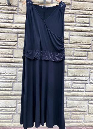 Стильное платье миди  на новогодний корпоратив, 18-20 размер 🎄