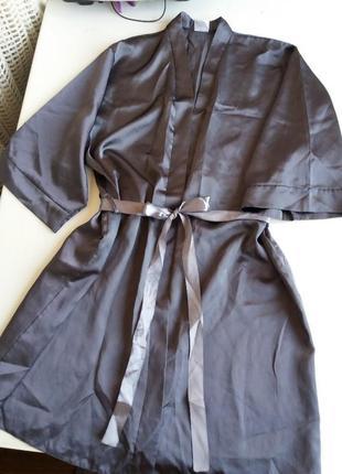 Атласный халат / кимоно /халатик