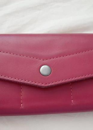 Кожаный кошелек-клатч