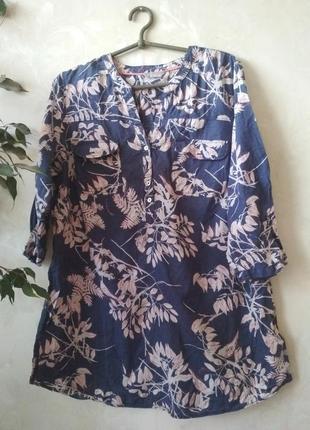Удлинённая льняная рубашка