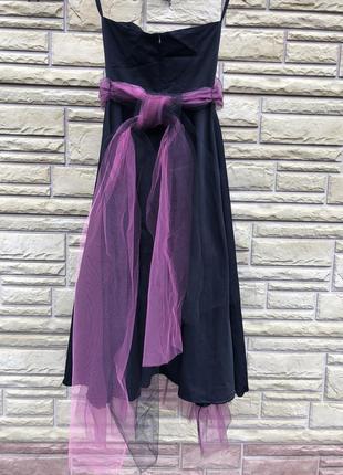 Шикарное эксклюзивное  платье миди с фатином  на новый год, франция 🇫🇷