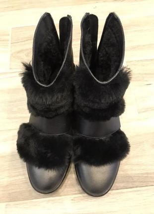 Зимние ботинки, зимові ботінки, сапони на платформе