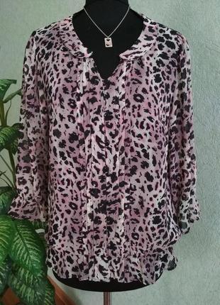Легкая блуза с обворожительным принтом ук.р-48-50. next.