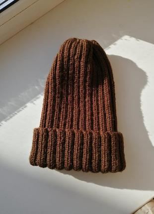 Шапочка тыковка из мериноса