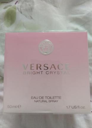 Туалетная вода versace bright crystal, 50 ml. оригинал