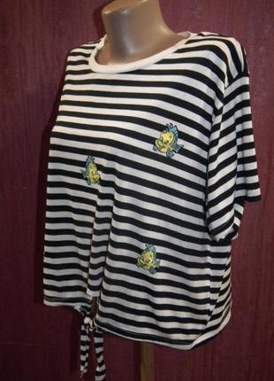 Блуза в полоску,матроска disney,р16