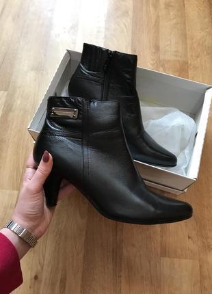 Кожаные ботинки осень/весна 38 размер