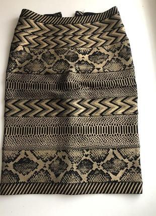 Бандажная юбка принт под змею, питон