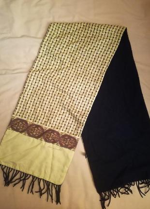 Продам комбинированный бомбезный шарф шелк/кашемир/шерсть andrea zanellato италия