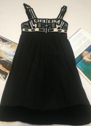 """Шикарное платье из натурального шелка с бархатной отделкой на корпоратив, нг """"derhy"""""""