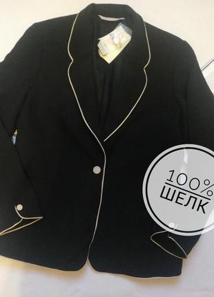 """Классический пиджак / жакет из натурального шелка """"laura ashley"""""""