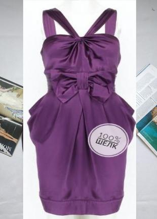 """Вечернее платье из натурального шелка с бантом """"sportlite"""" by """"warehouse"""""""