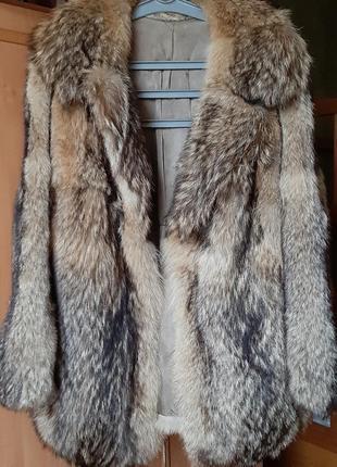 Зимняя шубка из лисы/натуральный мех