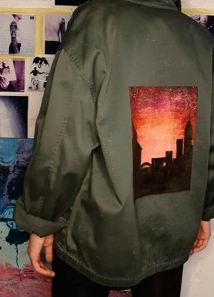 Куртка - бомбер с рисунком, ручная работа ♥️