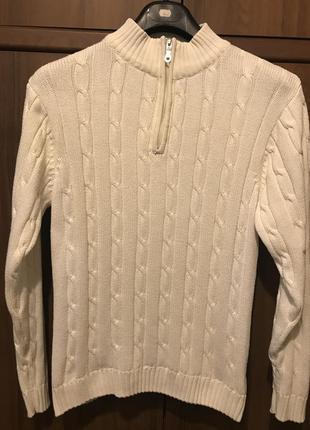 Модный свитер  на подростка, тёплый , хлопок 100% , на рост 160-175