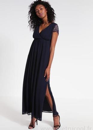 """Красивейшее вечернее длинное тёмно-синее платье """"young couture"""" by barbara schwarzer"""